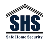 Safe home securities, SHS logo, Security company logo,