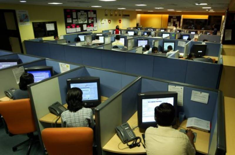 call center in pakistan, people. laptops